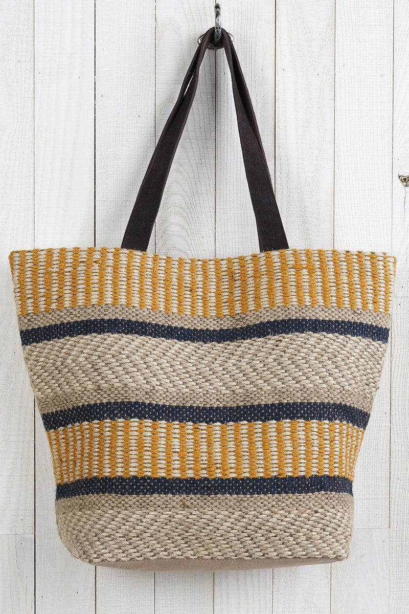 Jute Multi Color Tote Bag