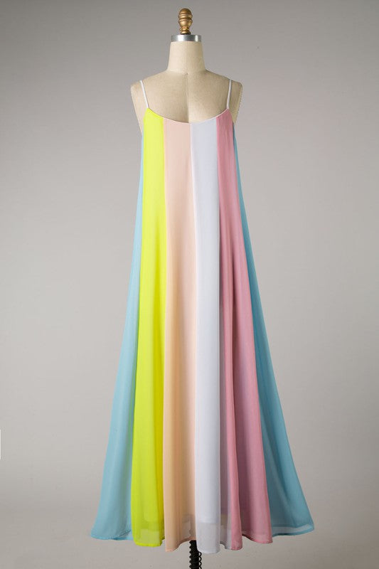Color Block Striped Maxi (Yellow)