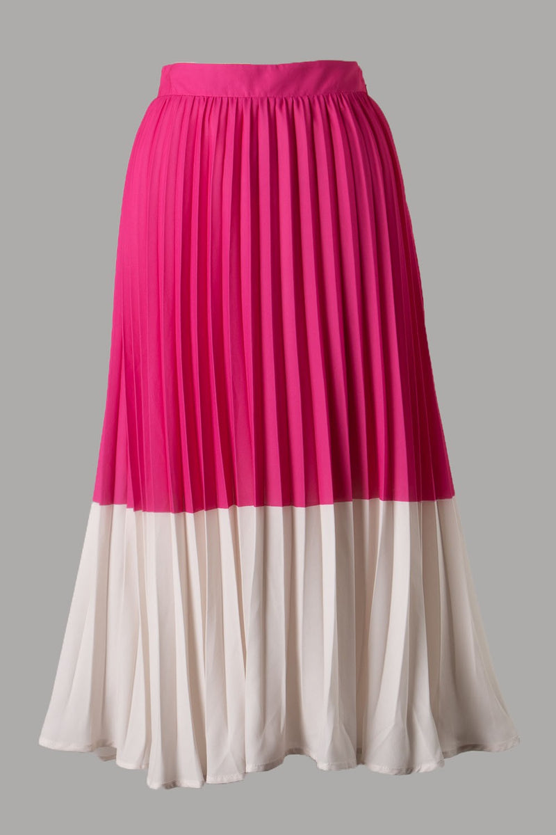 Two Tone Megan Midi (Fuchsia)