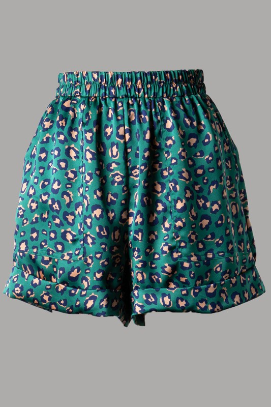 Carol Satin Shorts (Green)