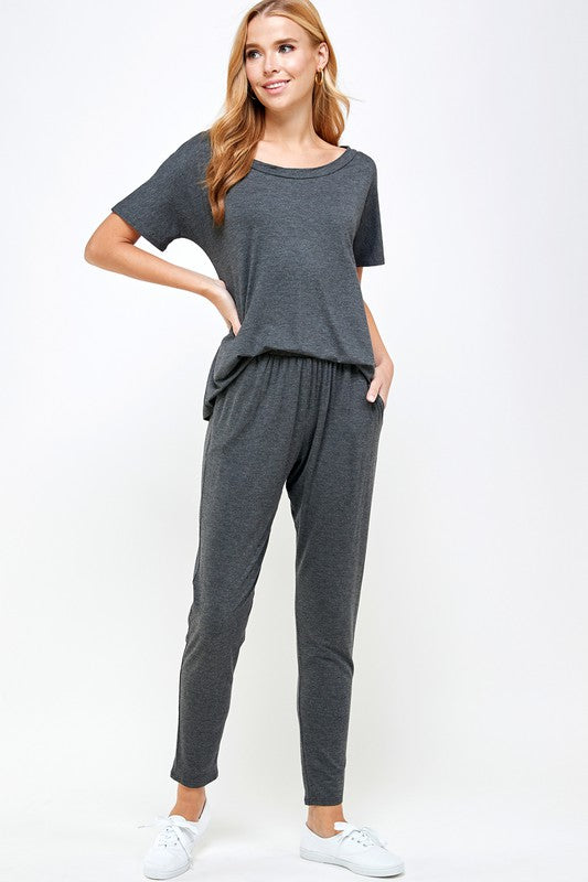 Rayon Lounge Top (Charcoal)