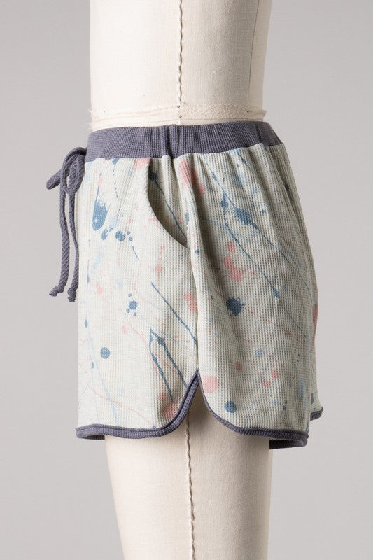 Splatter Paint Lounge Short (Grey)