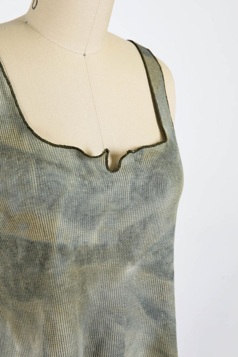 Thermal Knit Skimmer Top (Olive)