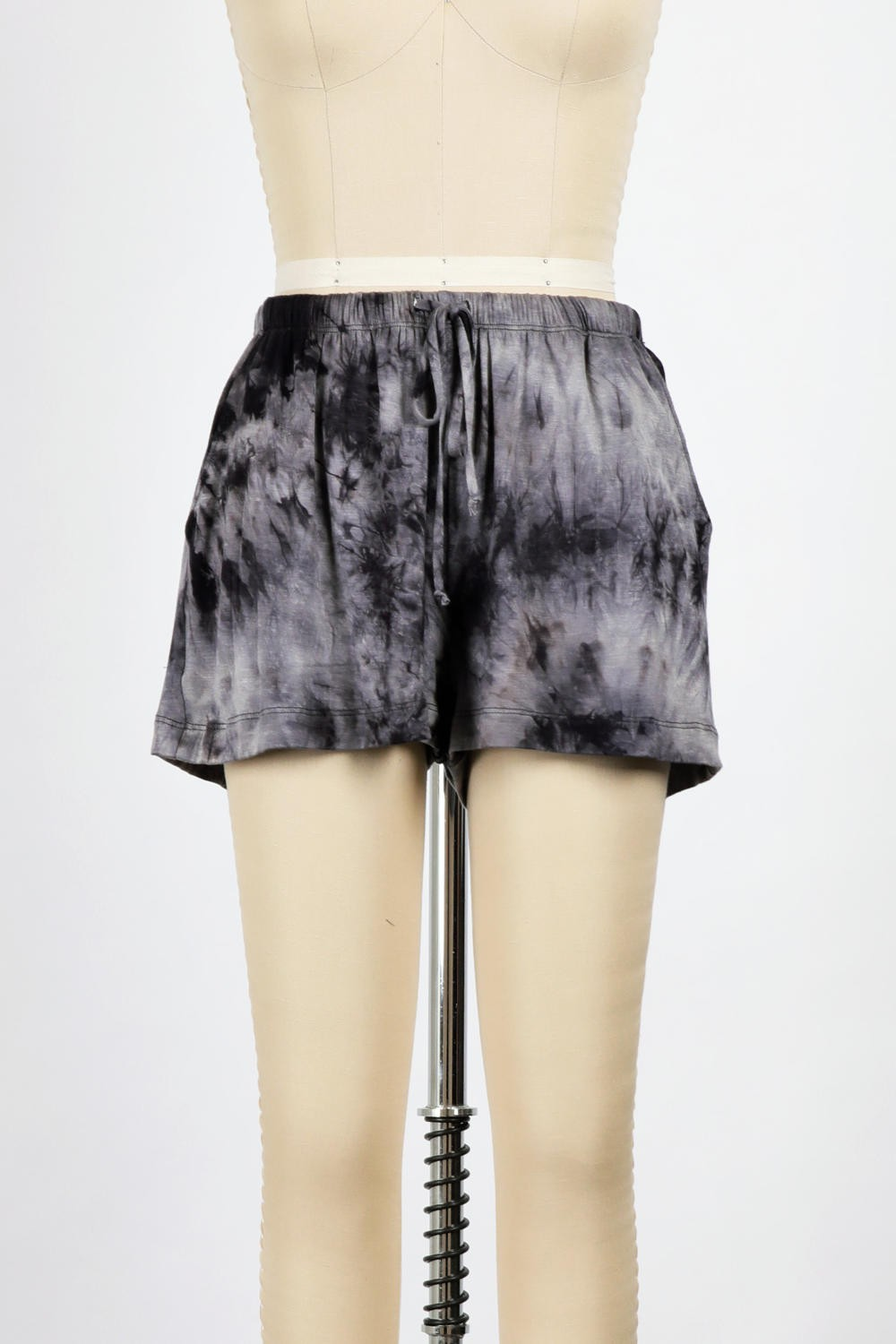 Tie Dyed Basic Shorts (Black)
