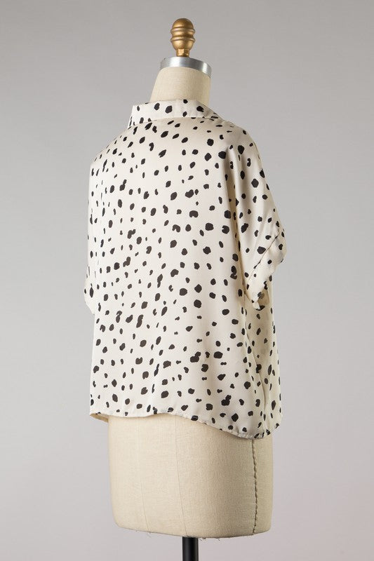 Dotted Claire Top (Ivory/Black)