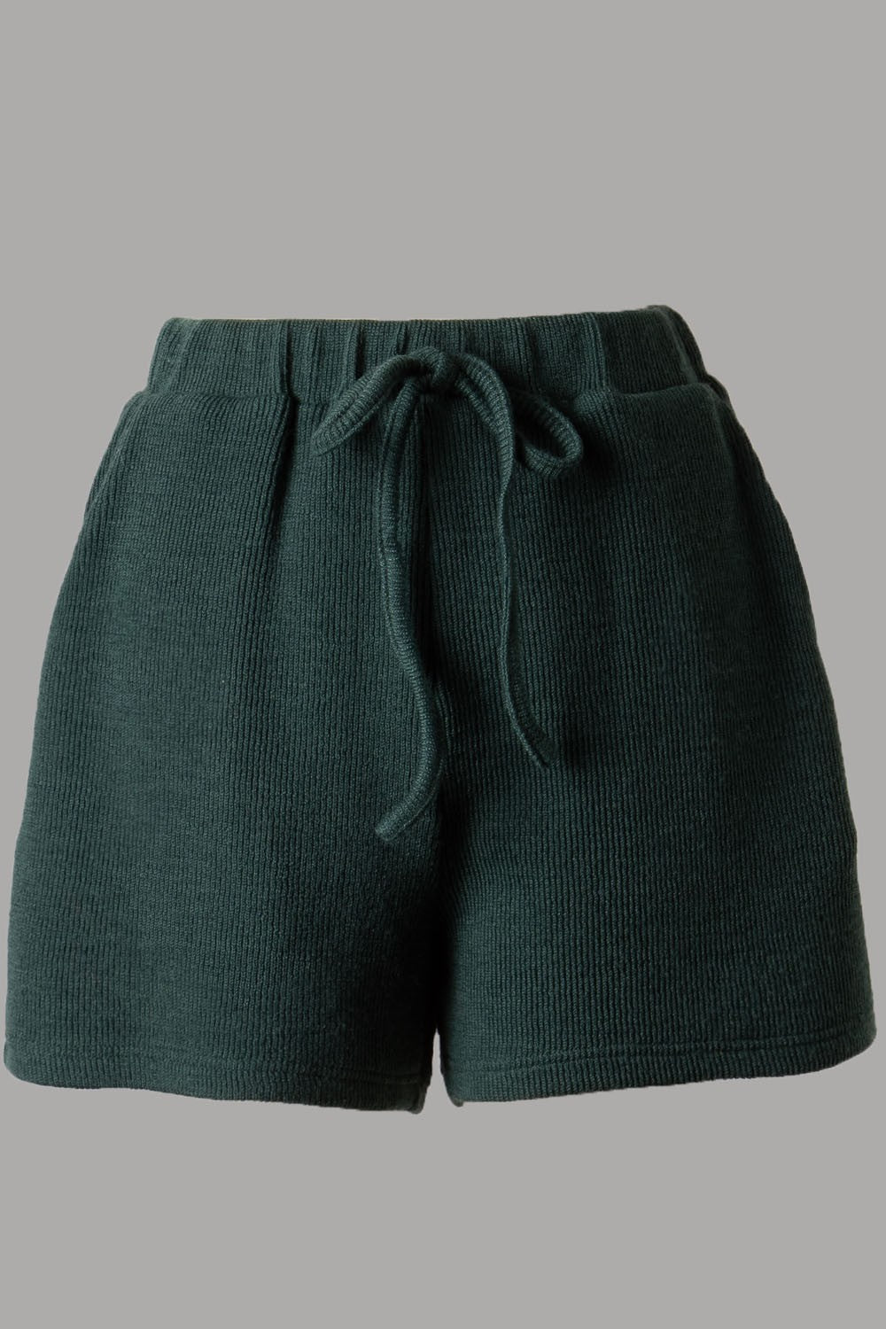 Soft Ribbed Knit Short (Sea Green)