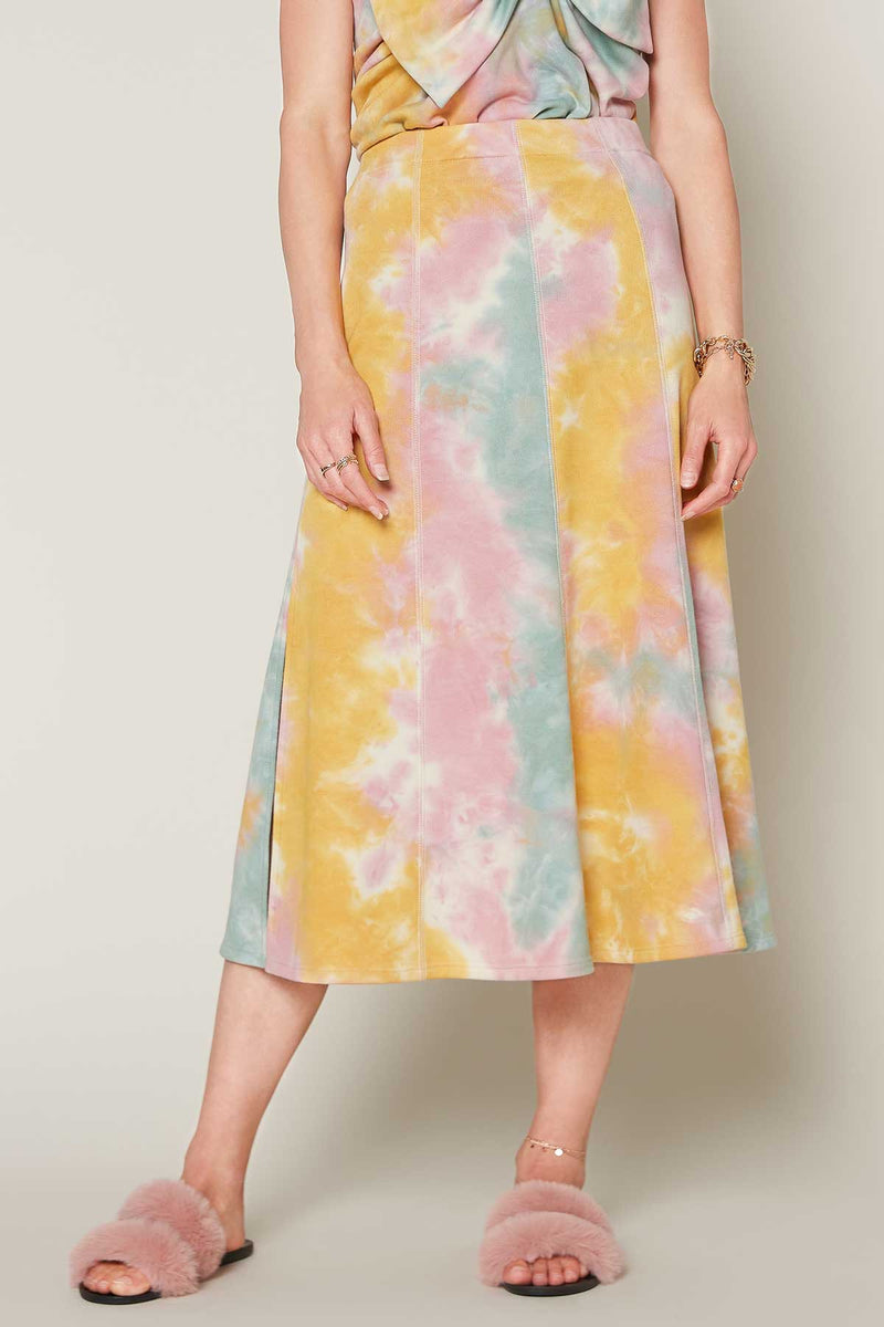 Tie Dye Midi Skirt (Cotton Candy)