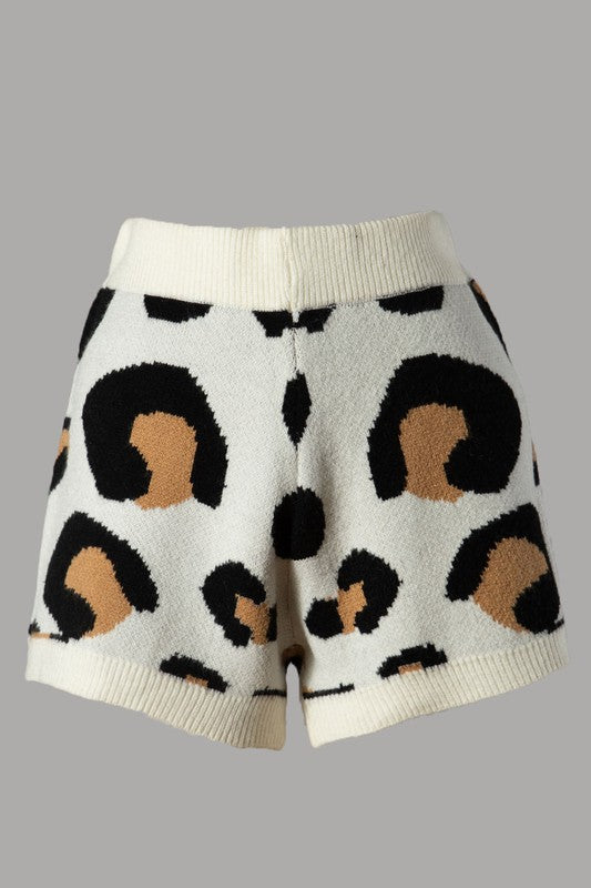 Carlyn Leopard Shorts (Off White)