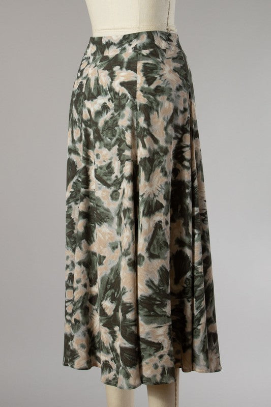 Fall Feels Skirt (Olive)