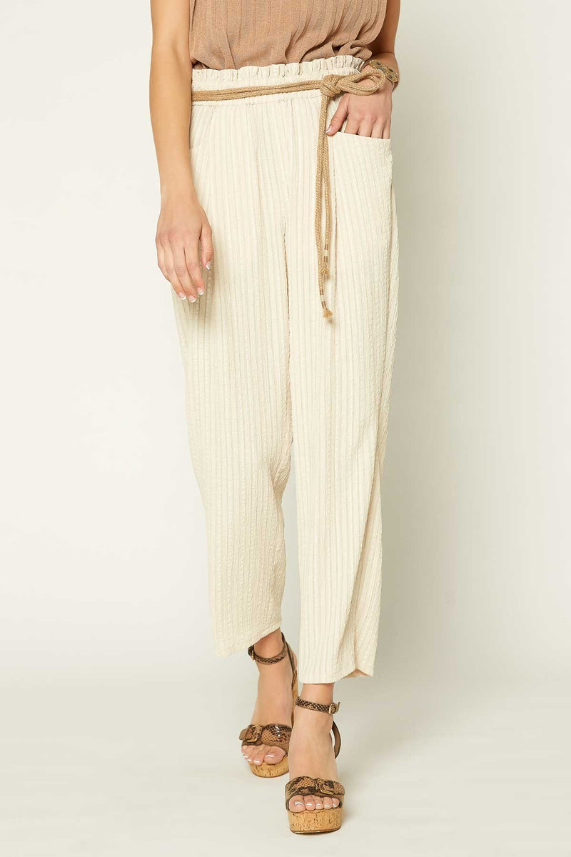 Paperbag Waist Pant (Light Sand)