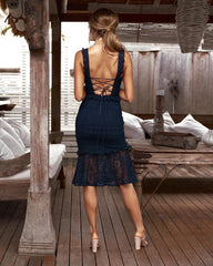 Cordelia Dress (Navy)