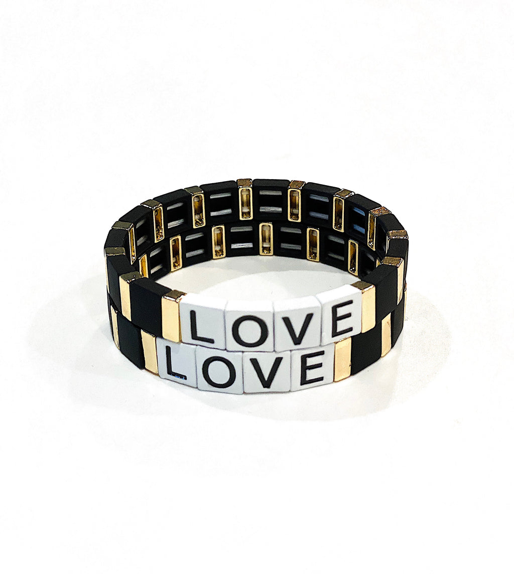Love Tile Bracelet (Black)