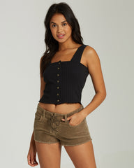Lite Hearted Cord Shorts (Sage)