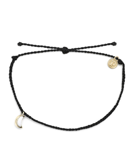 Crescent Moon Anklet Gold (Black)