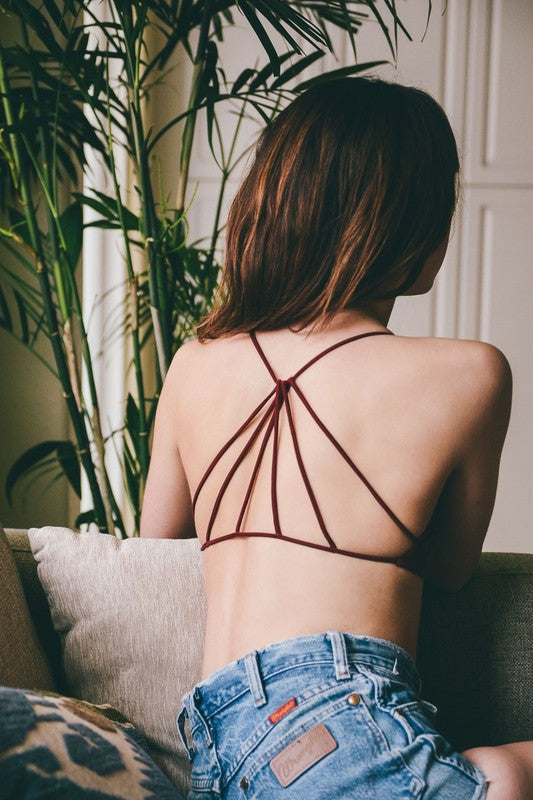 Monica Triangle Back Bralette (Red)