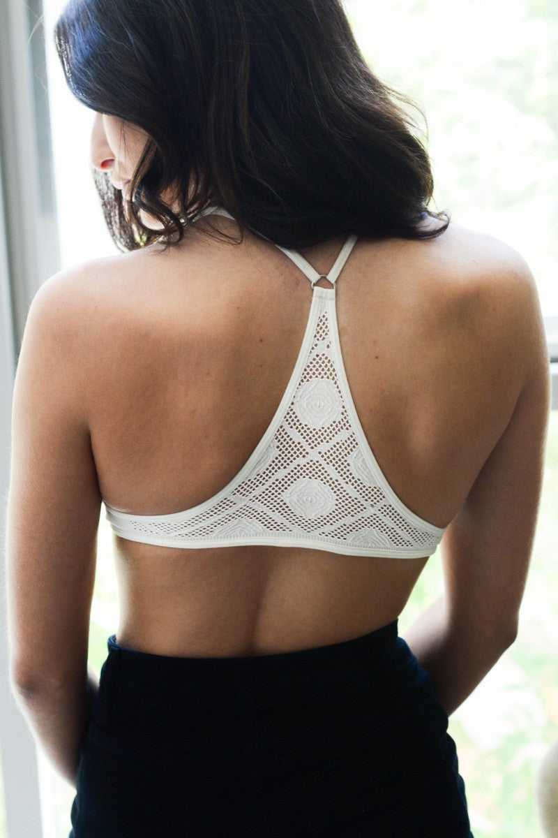 Katie Y Back Bralette (Off White)