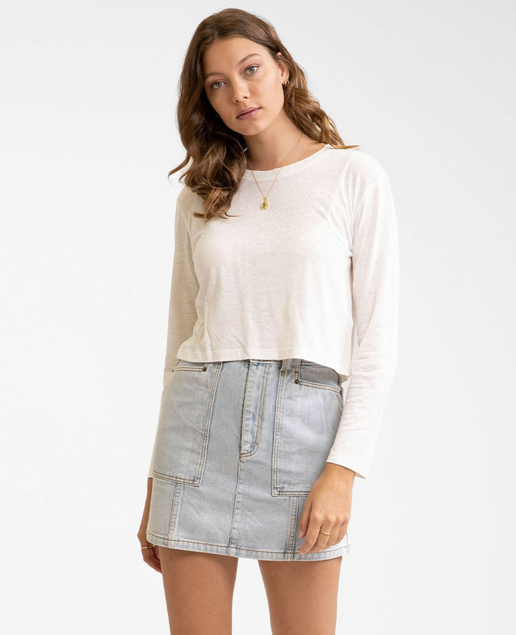Haven Long Sleeve Top (White)