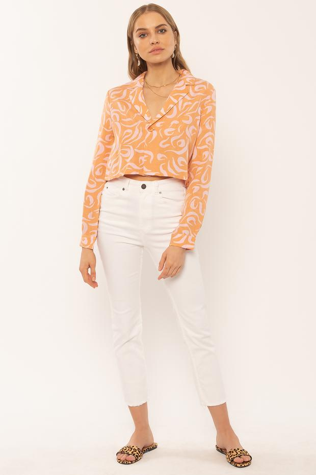 Faye Long Sleeve Blouse (CRS)