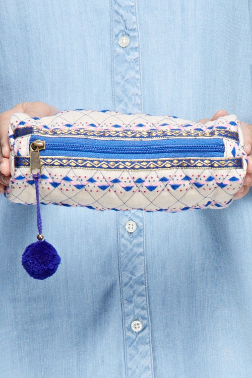 Megan Makeup Bag (Blue)