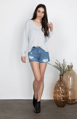 Scorpio Top (H. Light Grey)