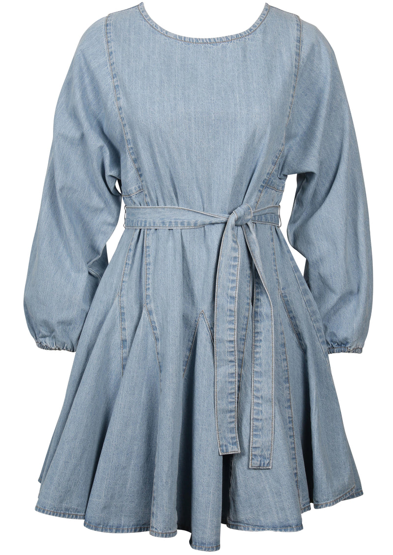 Curious Smock Dress (Light Blue)