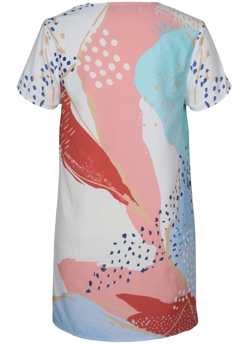 Calm Bliss Tee Dress (Multi)