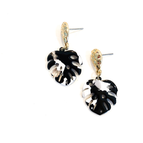 Lillian Earring (Black/White)
