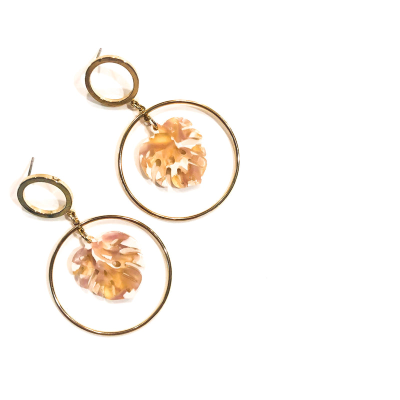 Brittany Earring (Natural/Gold)