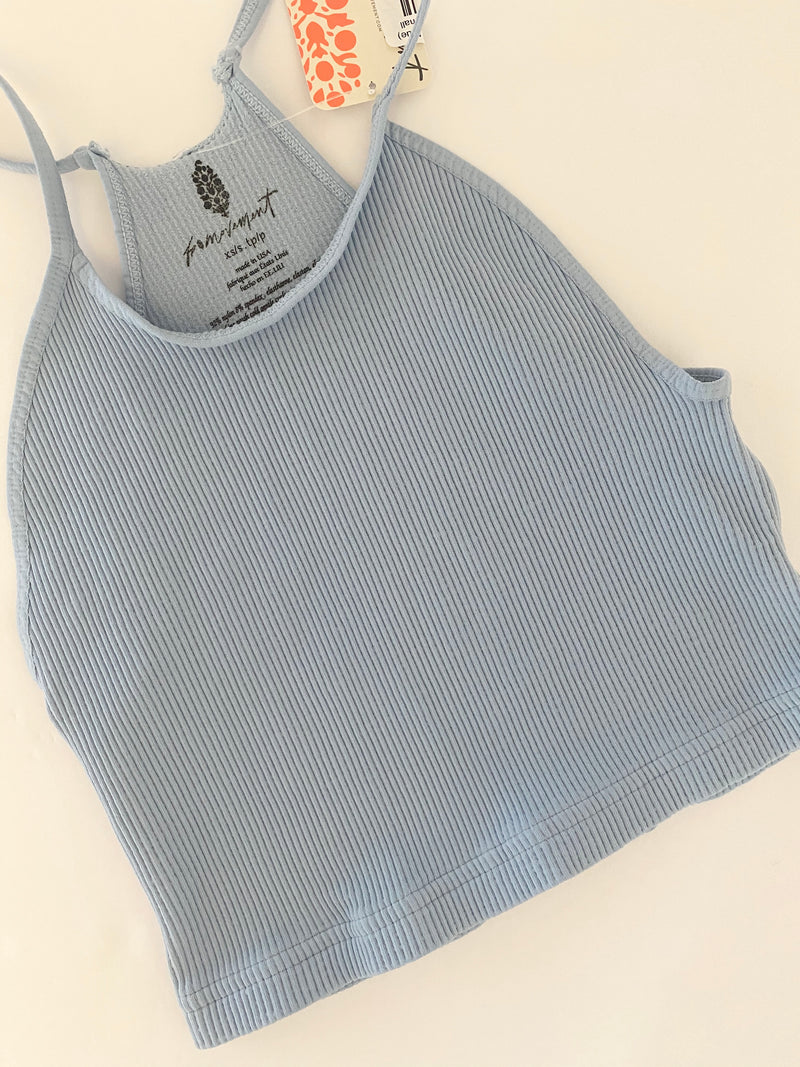 Cropped Run Tank (Ice Blue)