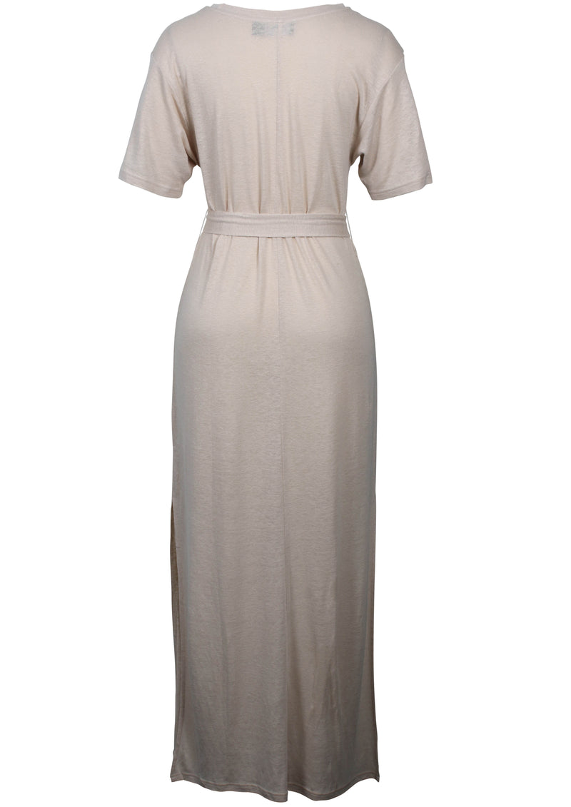 San Carlo Midi Tee Dress (Natural)