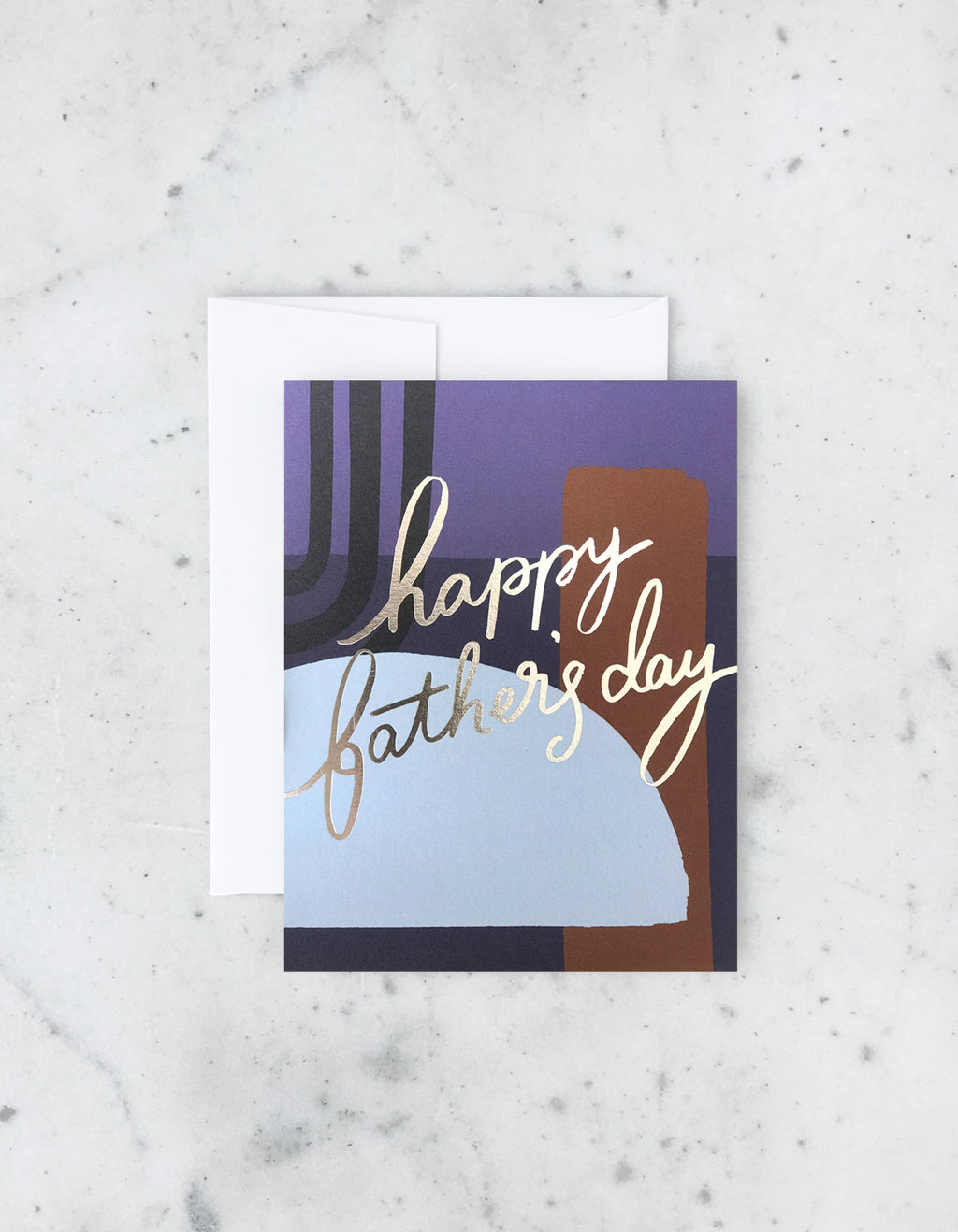 Colorblock Fathers Day Card