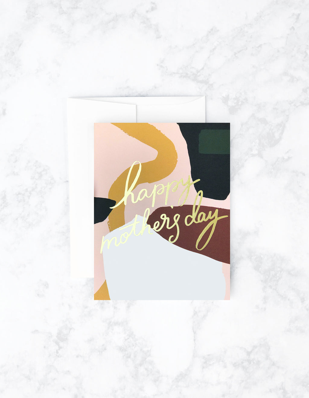 Colorblock Mothers Day Card