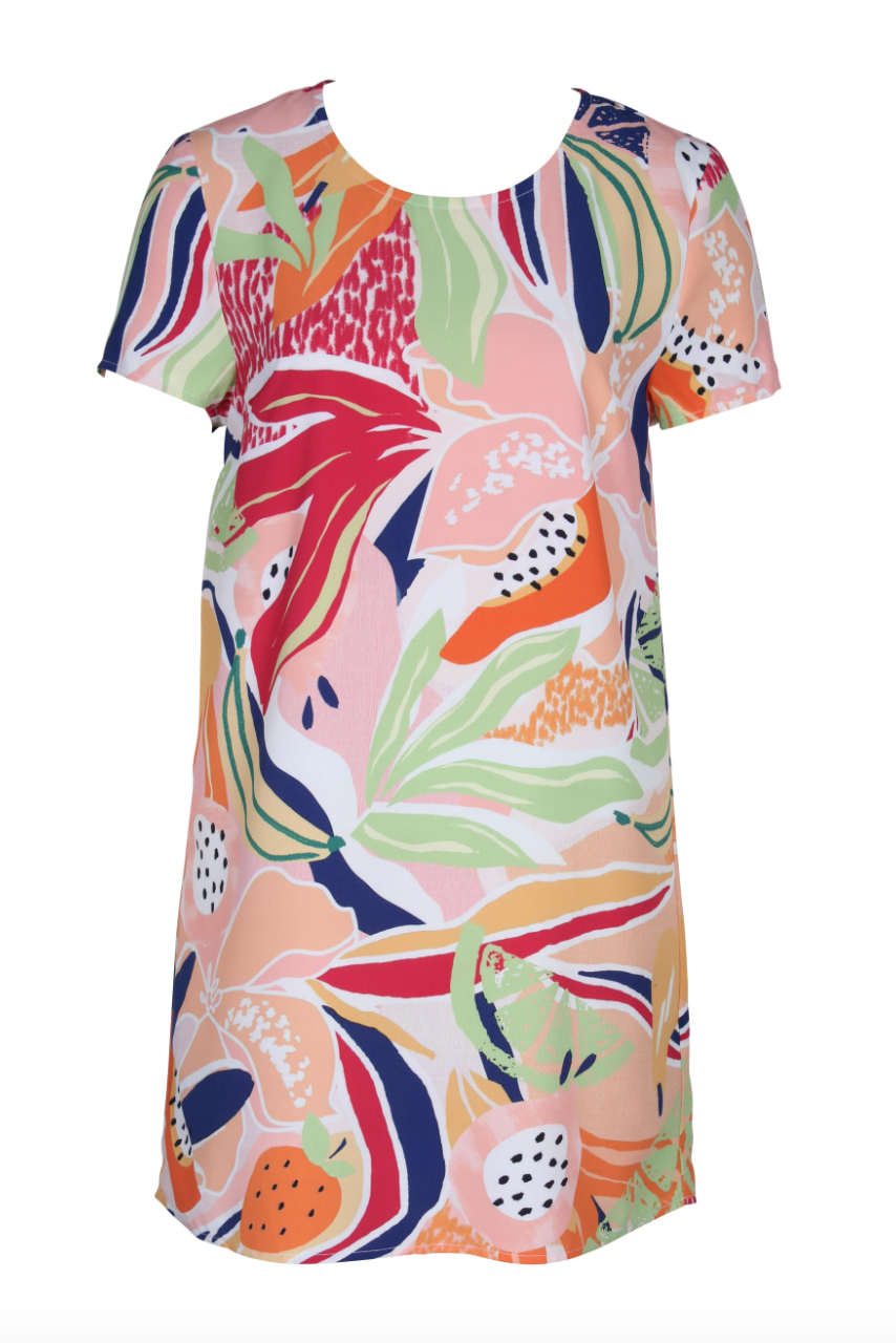 Wild Orchard Tee Dress (Multi) ONLINE EXCLUSIVE