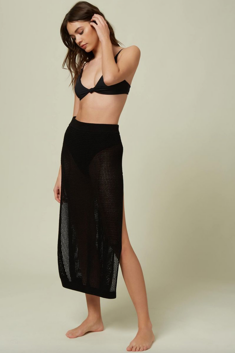 Louise Mesh Skirt Cover Up (BLK)