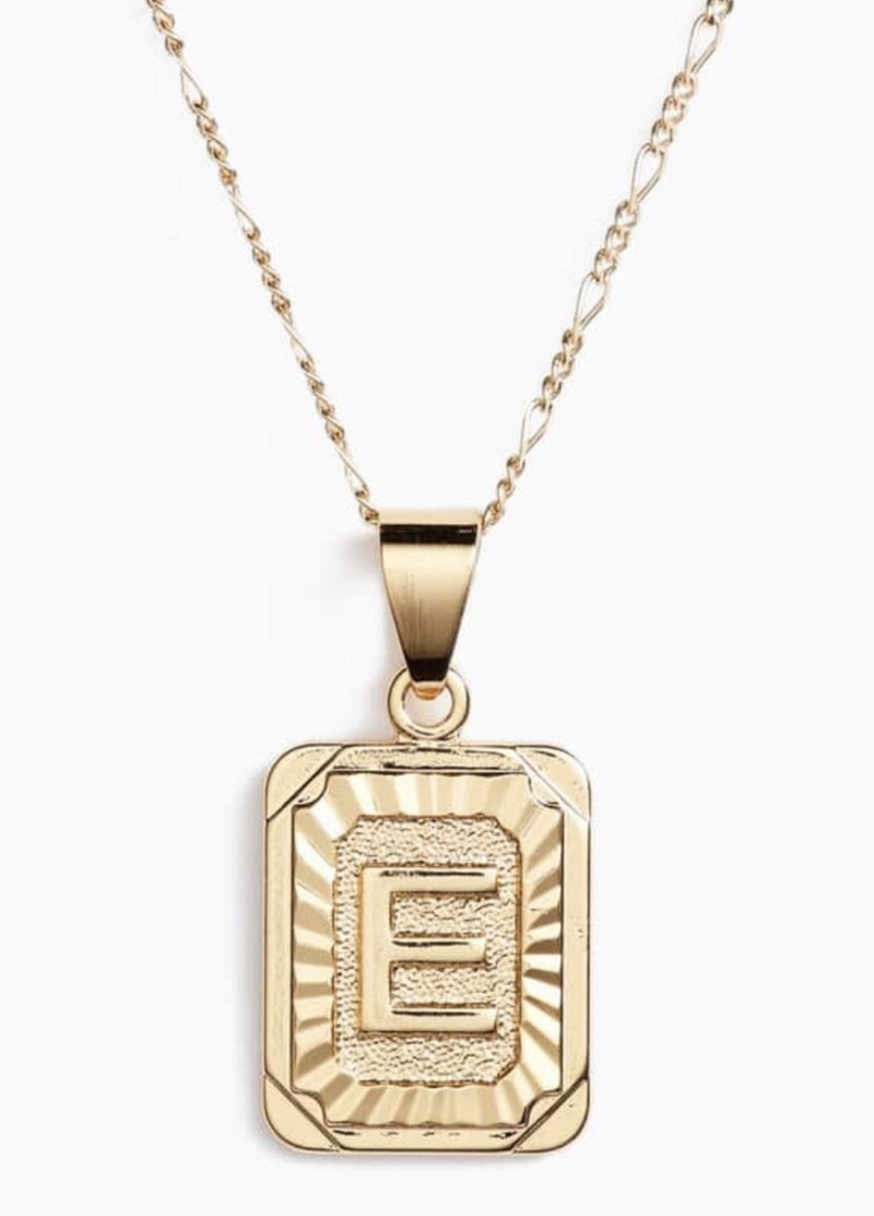 Initial Card Necklace (Gold) 14k Gold Filled PREORDER