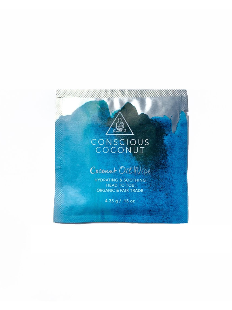 Organic Coconut Oil Wipes (25 Count)
