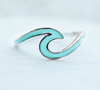 Enamel Toe Ring Wave (Silver)