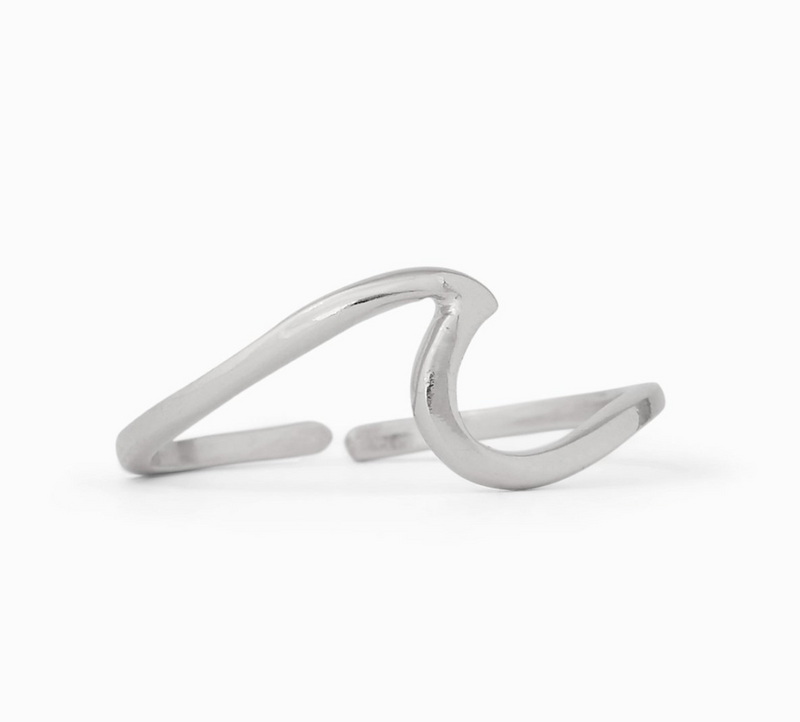 Wave Toe Ring (Silver)