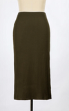 Baby Ribbed Pencil Skirt (Olive)