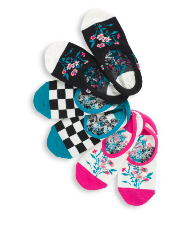 Beauty Floral Canoodle Socks 3 Pack (Multi)