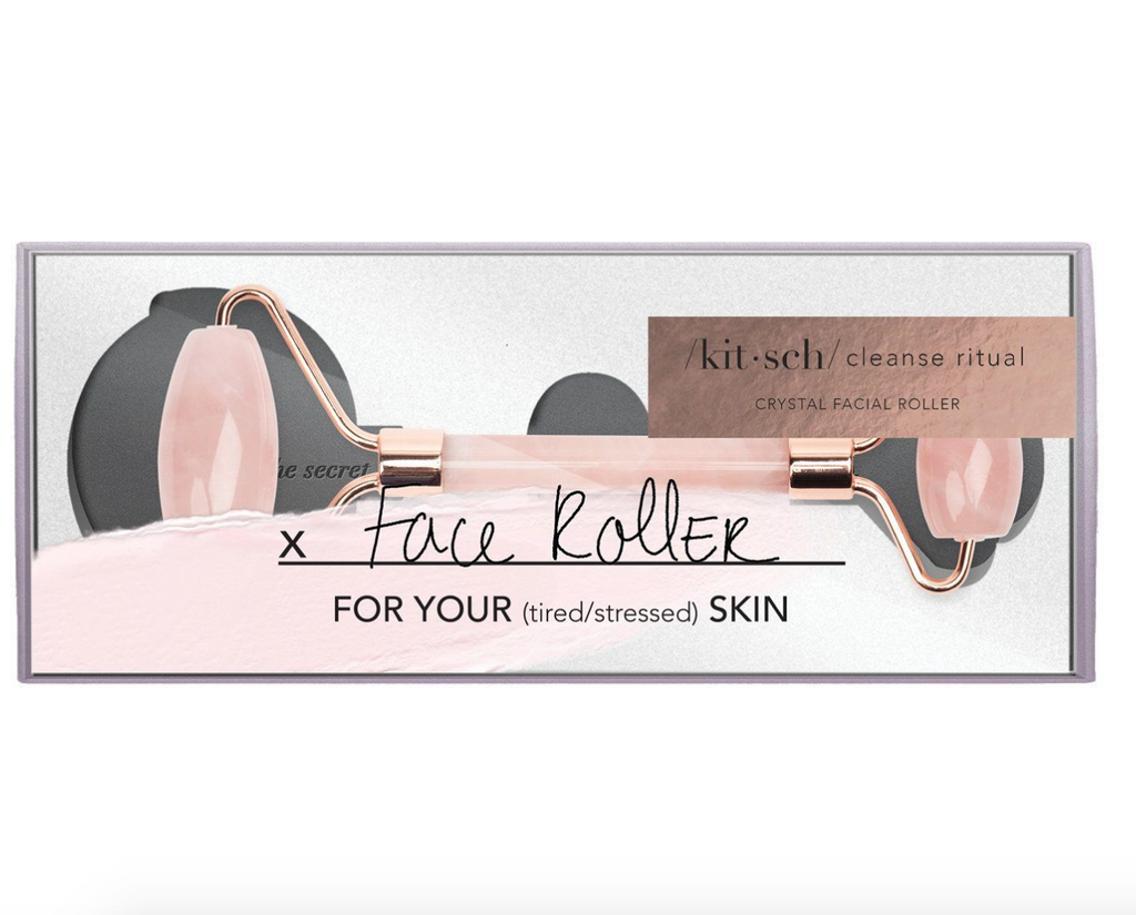 Rose Quartz Crystal Facial Roller PREORDER