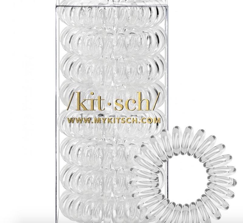 Hair Coils 8 Pack (Transparent)
