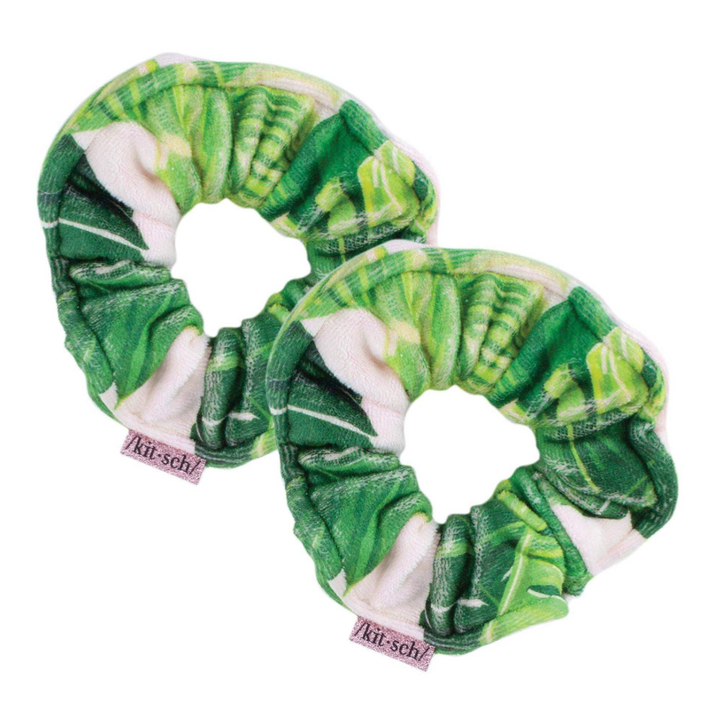 Microfiber Towel Scrunchies (Palm Print)