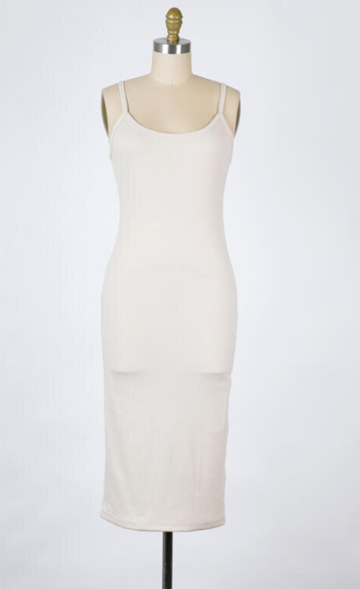 Tybee Bodycon Dress (Fog)