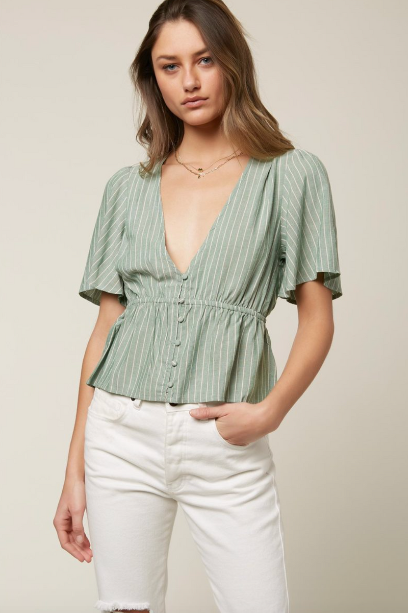 Wes Stripe Top (GRN)