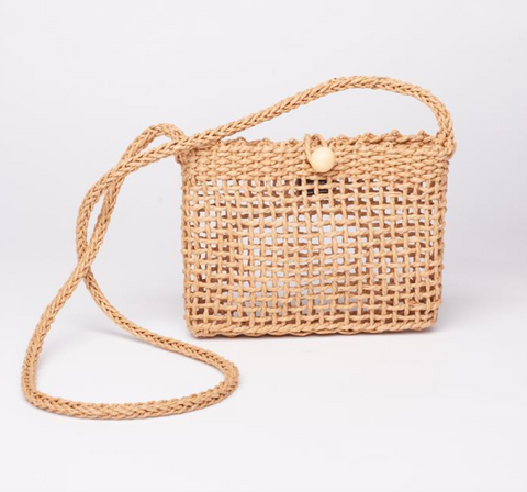 Bungalow Purse Bag (Straw)