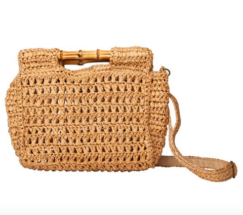 Tiki Clutch Bag (Straw)
