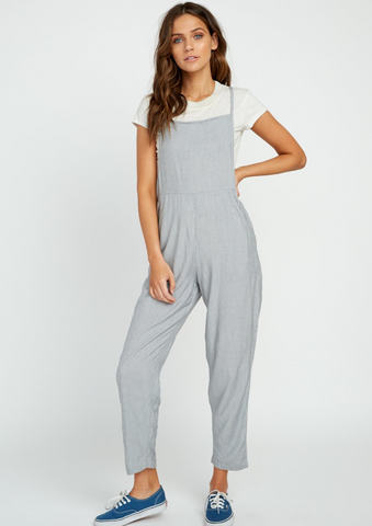 Danforth Striped Overalls (BLK)