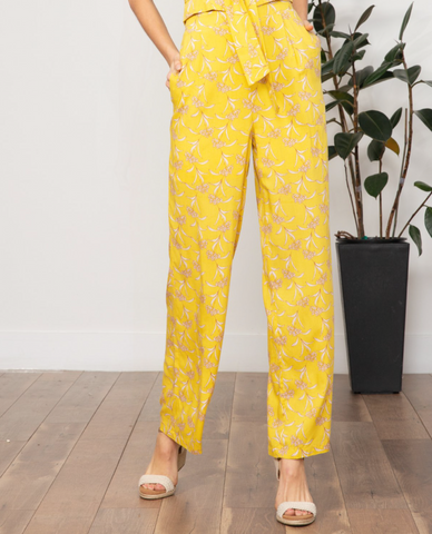 Hanna Floral Pant (Yellow Floral)