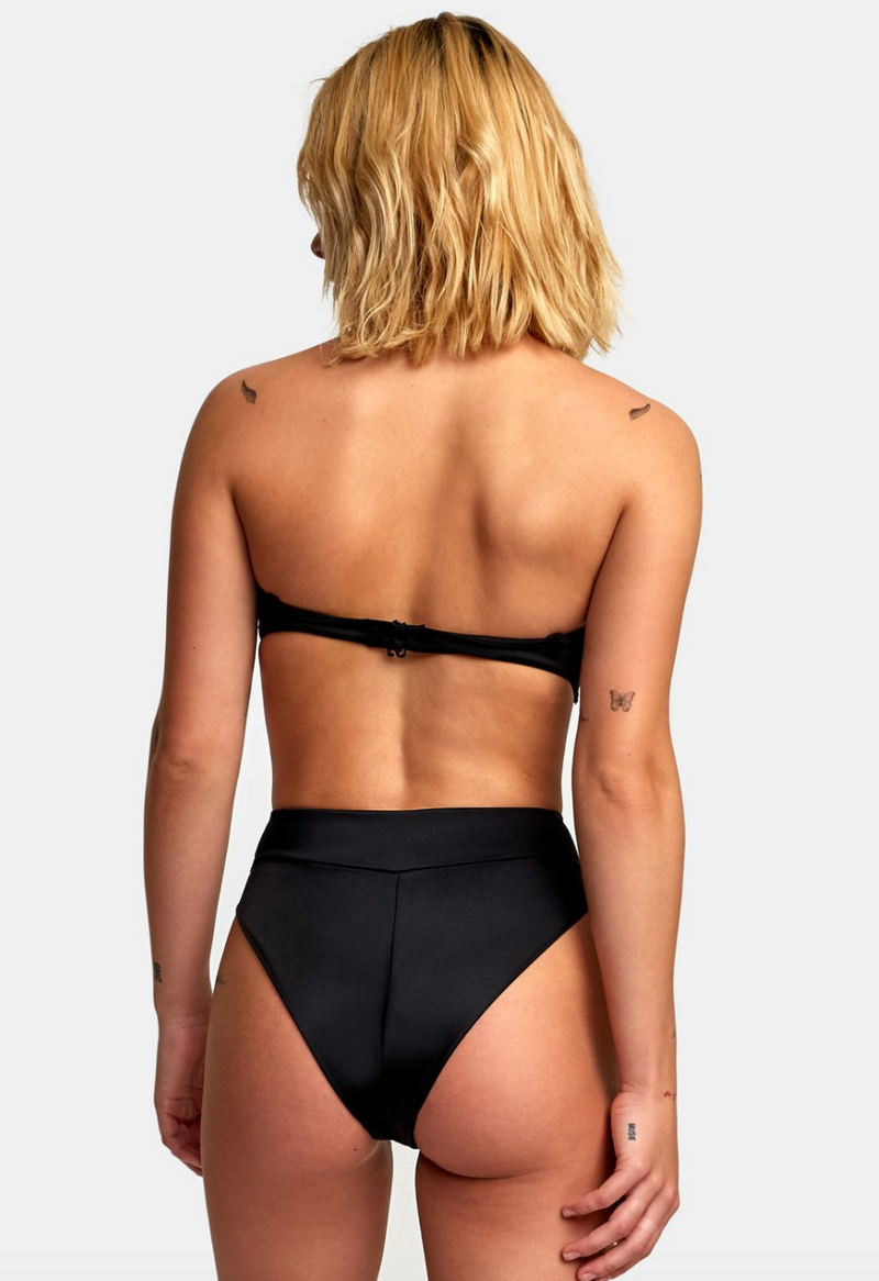 Solid High Rise Cheeky Bottom (BLK)